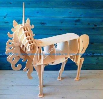 Unicorn Shelf 10mm Laser Cut CNC Plans