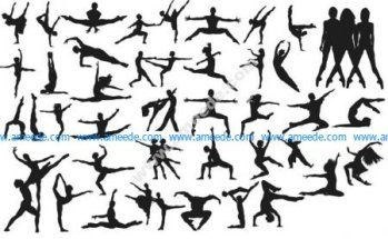 Vector Dancing People Silhouettes