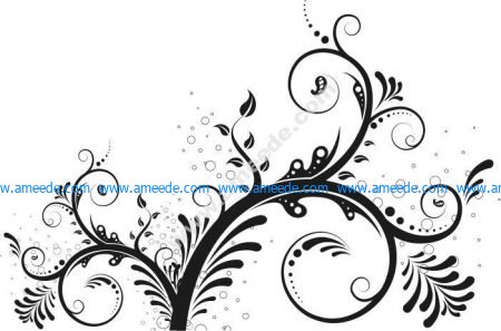 Vector Swirl Floral Ornaments