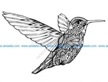 Zen hummingbird