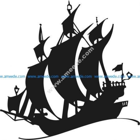 the explorer ship crossed the ocean