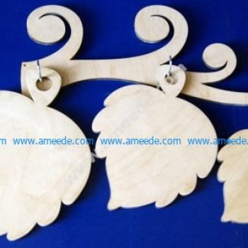 Laser Cut Leaf Shape Chopping Boards Plywood