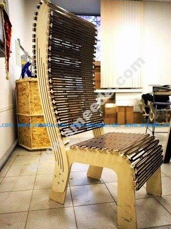 Laser Cut Live Hinge Chair