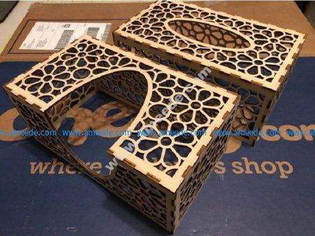 Laser Cut Tissue Box