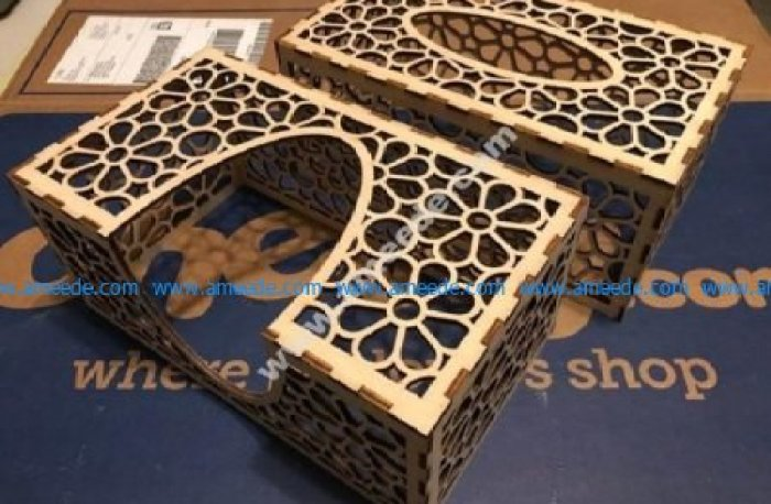 Laser Cut Tissue Box