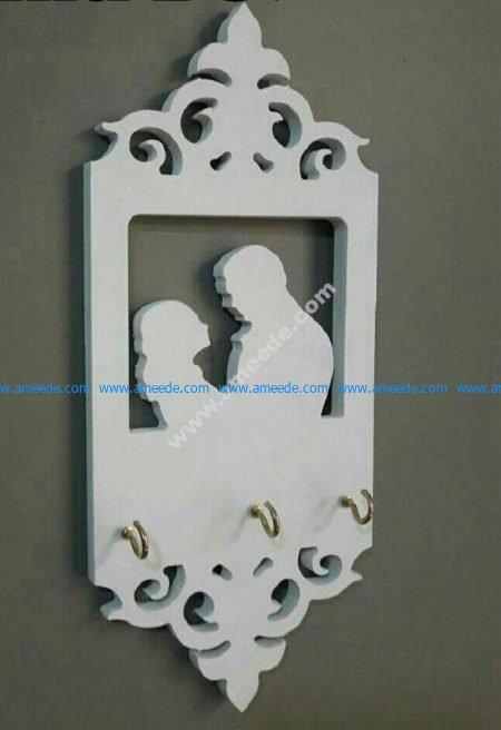 Laser Cut Wall Shelf Hanger Template