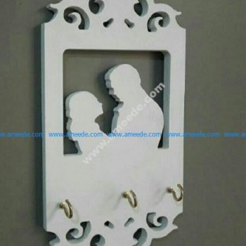 Laser Cut Wall Shelf Hanger Template