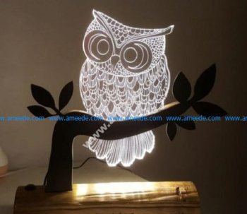 Owl 3D LED Night Light
