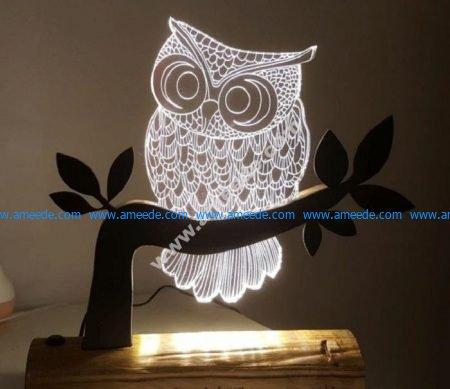 Owl 3D LED Night Light
