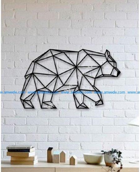 Bear Wall Sculpture