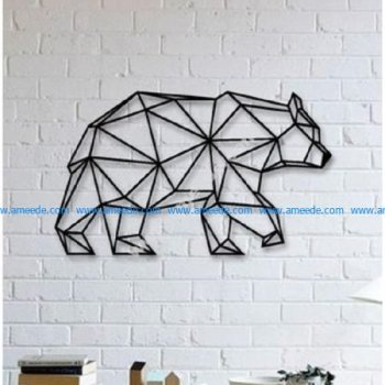 Bear Wall Sculpture