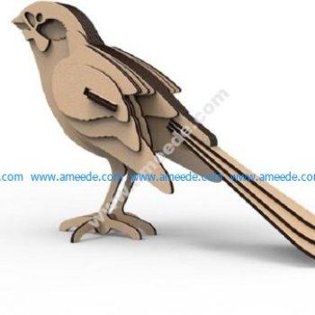 Bird ready for lasercut