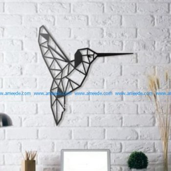 Colibri Humming Bird Wall Sculpture