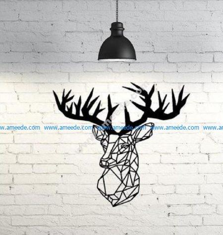 Deer Wall Sculpture