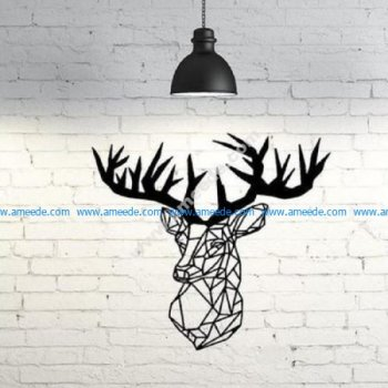 Deer Wall Sculpture