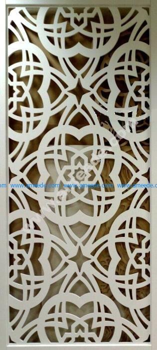 Floral Pattern Laser Cut CNC Router Template
