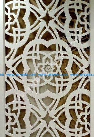 Floral Pattern Laser Cut CNC Router Template