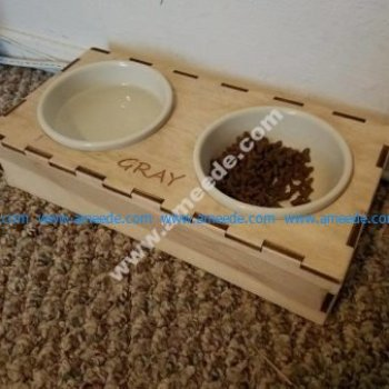 Laser Cut Cat Dish