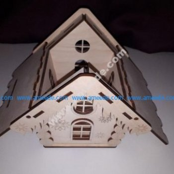 Houses Design for laser cutting