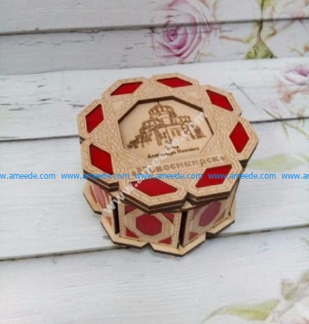 Jewelry box with color inserts