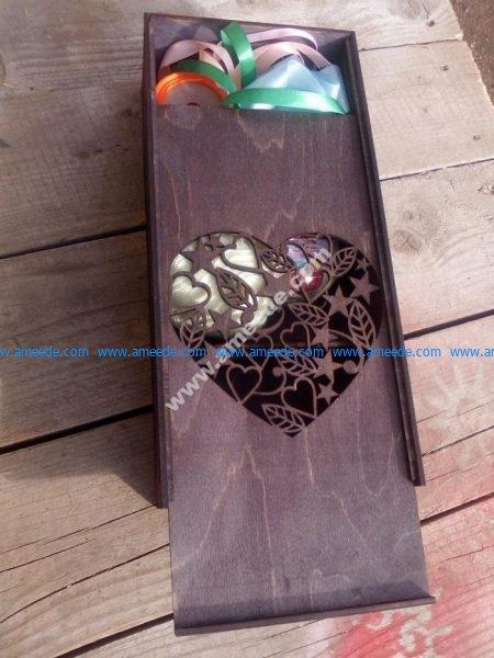 Laser Cut Box with Sliding Lid Pencil Case