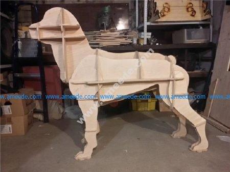 Laser Cut Boxer Dog 3D CNC Template