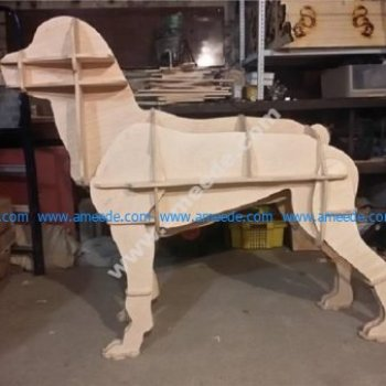 Laser Cut Boxer Dog 3D CNC Template