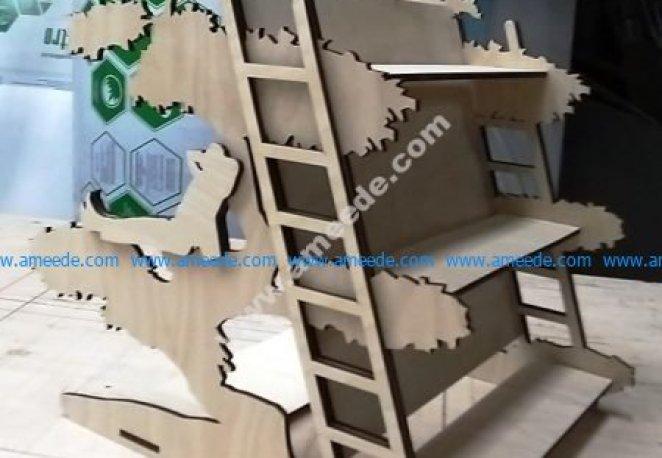 Laser Cut Decorated Shelf