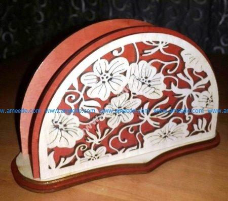Laser Cut Decorative Napkin Holder