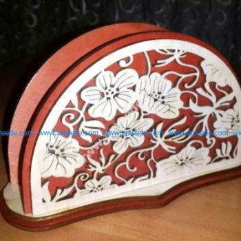 Laser Cut Decorative Napkin Holder