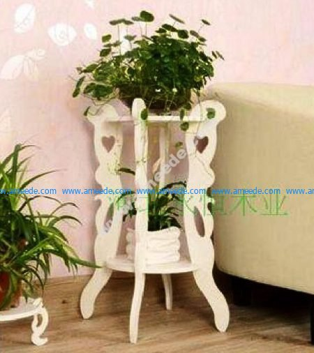 Laser Cut Flower Stand Plant Pot Vase