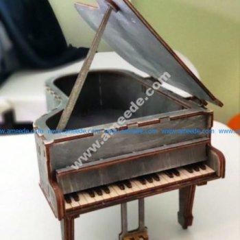 Laser Cut Grand Piano 3D Puzzle