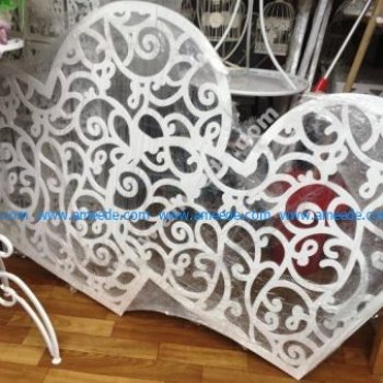 Laser Cut Heart Decor