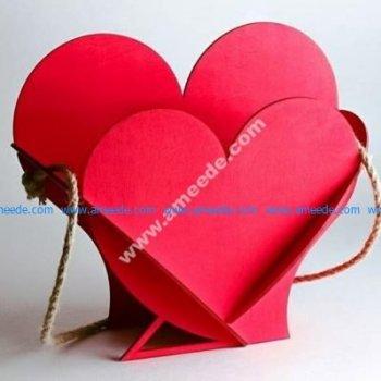 Laser Cut Heart Shape Basket