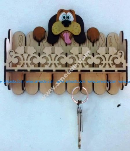 Laser Cut Key Hanger Dog 3mm