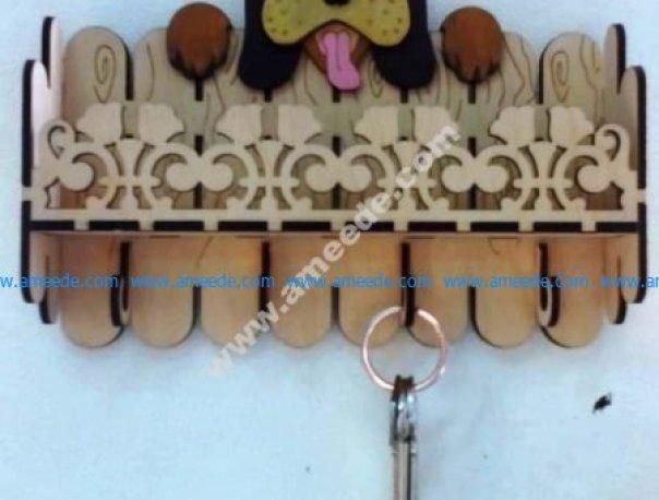 Laser Cut Key Hanger Dog 3mm