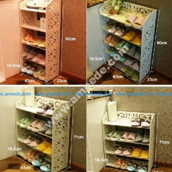 Laser Cut Shoe Shelves Decorative Storage Racks