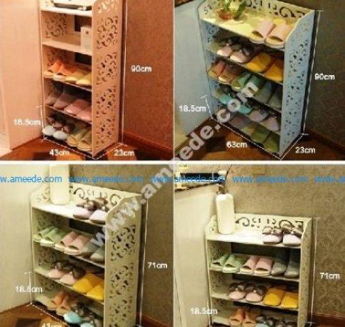 Laser Cut Shoe Shelves Decorative Storage Racks
