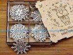 Laser Cut Snowflakes On Christmas Tree