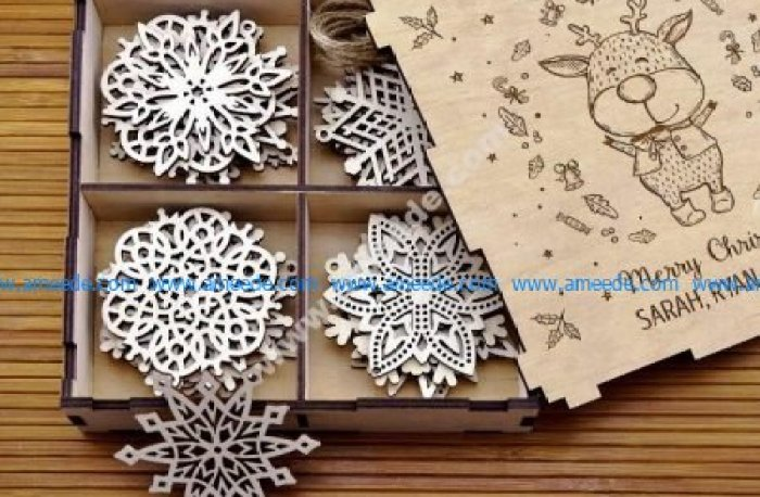 Laser Cut Snowflakes On Christmas Tree