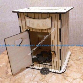 Laser Cut Toilet Piggy Bank