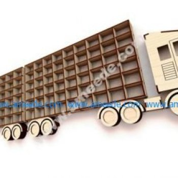 Laser Cut Truck With Trailer Wall Shelf