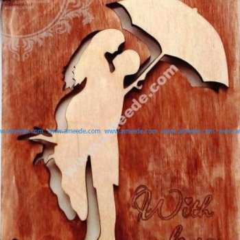 Laser Cut Wooden Postcard