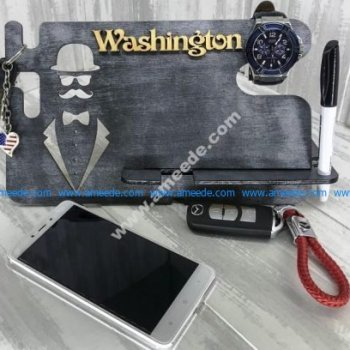 Laser Cut iPhone Watch Charging Docking Station 6mm