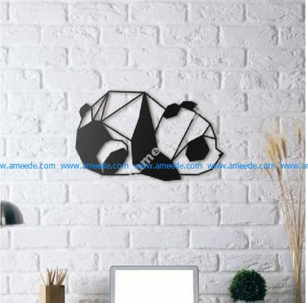 Panda Wall Sculpture
