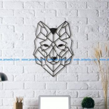 Wolf Wall Sculpture