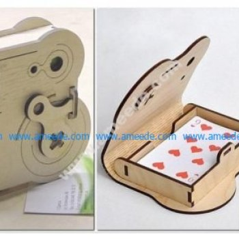 Wooden box with cards