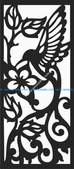 bird and flower motifs