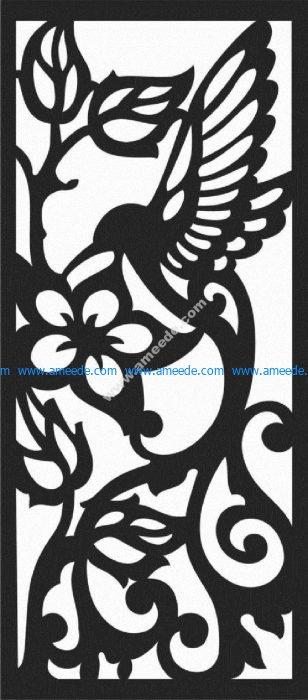bird and flower motifs