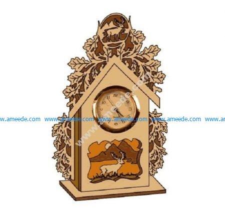 3D Puzzle Wood Clock
